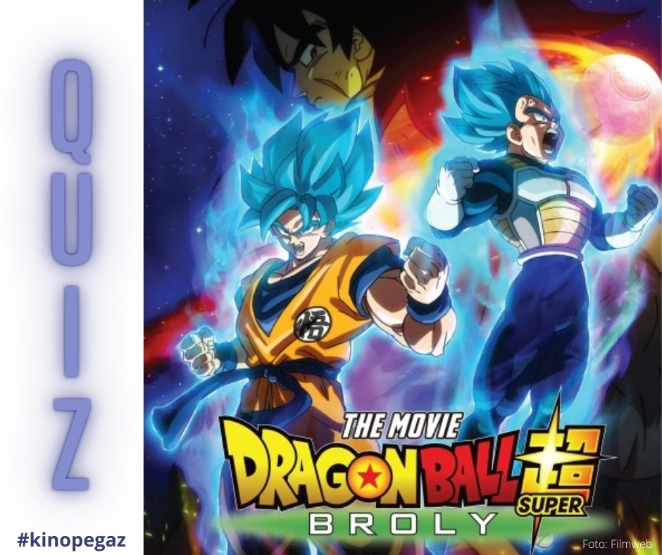 "Na grafice plakat z filmu ""Dragon Ball"" z napisem: quiz"